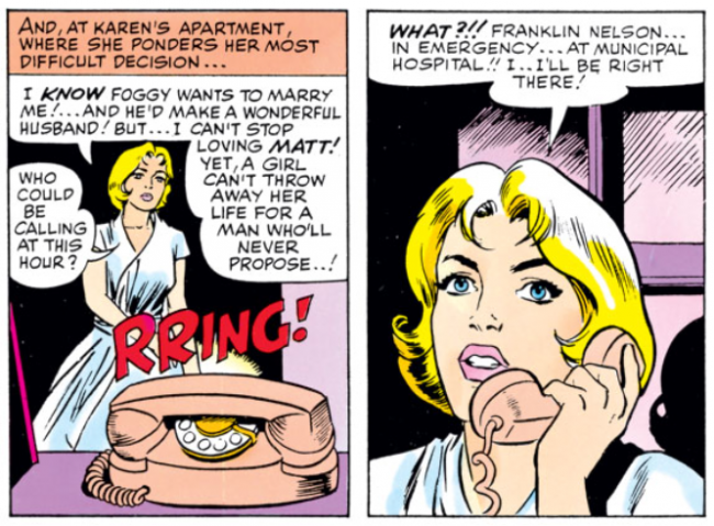A second panel of Karen from Daredevil #6