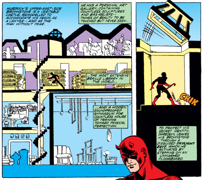 The life of a superhero - check out Daredevil's digs!