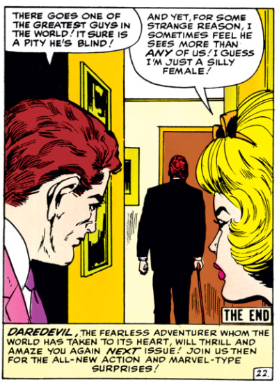 Foggy and Karen admire Matt in Daredevil #4