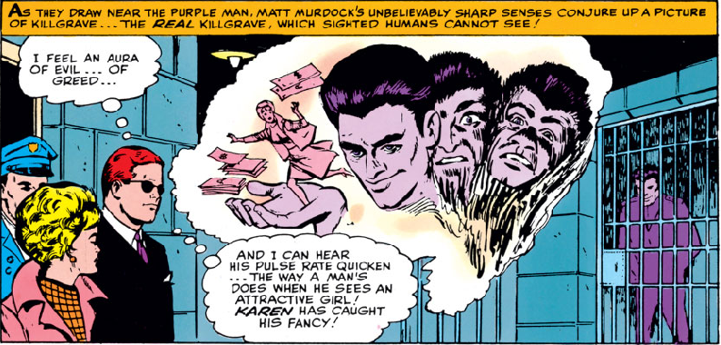 Panel from Daredevil #4, by Stan Lee and Joe Orlando