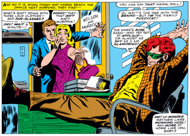 Mike Murdock makes his first appearance, from Daredevil #26