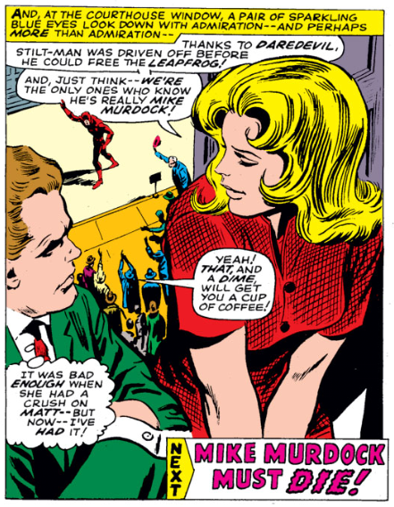 Foggy is complaining and Karen is smitten, from Daredevil #26