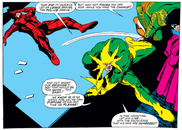 Daredevil faces the Matador and Electro, from the first Daredevil Annual