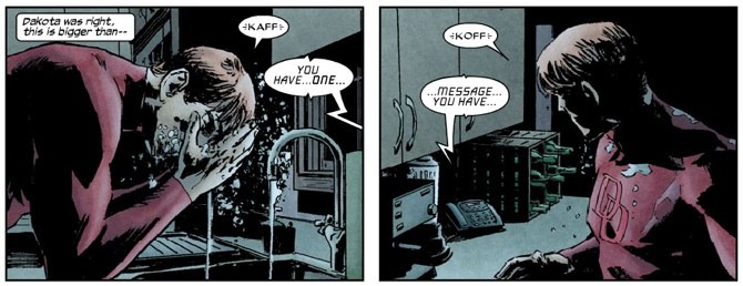Panel from Daredevil #110, volume 2, by Ed Brubaker and Michael Lark