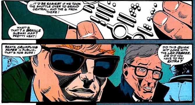 Panel from Daredevil #314, volume 2, by D.G. Chichester and Scott McDaniel