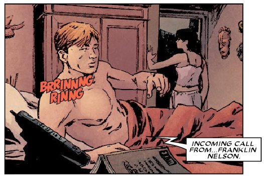 Panel from Daredevil #95, volume 2, by Ed Brubaker and Michael Lark
