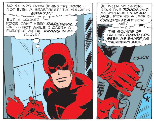 Panels from Daredevil #19, volume 1, by Stan Lee and John Romita