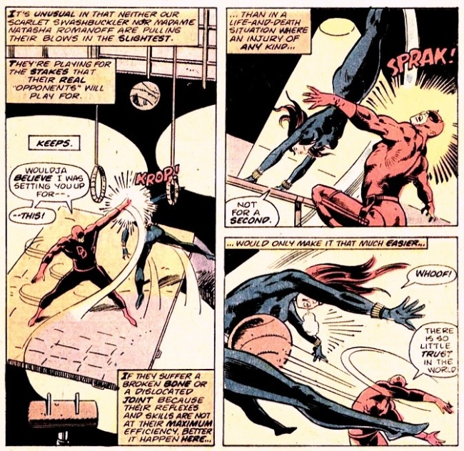 Panel from Daredevil #121, by Tony Isabella and Bob Brown
