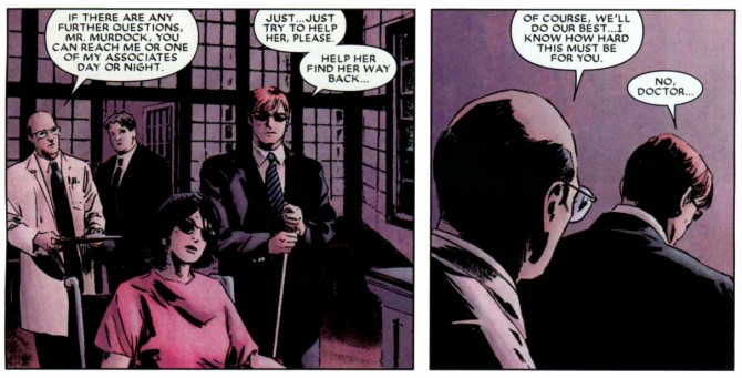 Panel from Daredevil #105, volume 2, by Ed Brubaker and Michael Lark
