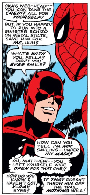 Panel from Daredevil #27, by Stan Lee and Gene Colan