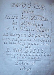 Braille's 1829 book in embossed print