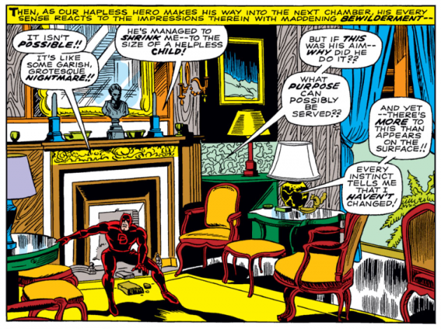 Daredevil versus Dr Doom, panel 5, from Daredevil #37