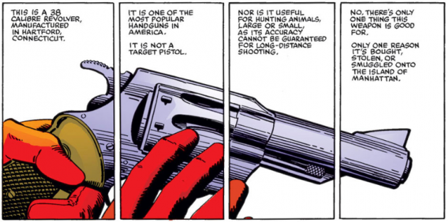 Introductory panel to Daredevil #191, by Frank Miller