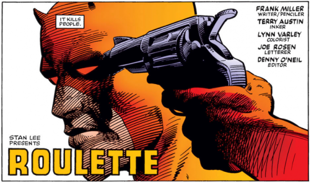 Second panel, Daredevil #191, by Frank Miller