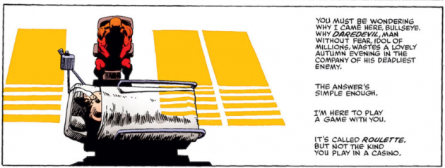 Subsequent panel, Daredevil #191, by Frank Miller