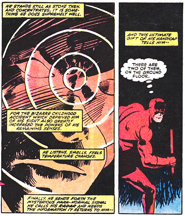Radar image, from Daredevil #195, by Denny O'Neil and Klaus Janson