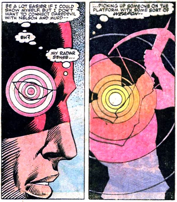 Radar image, from Daredevil #204, by Denny O'Neil and Luke McDonnell