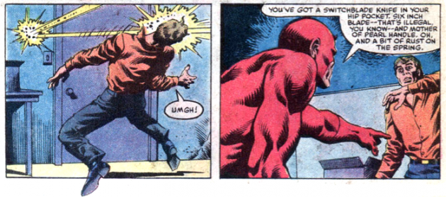 Radar image, from Daredevil #206, by Denny O'Neil and David Mazzucchelli