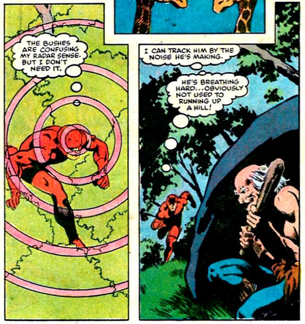 Radar image, from Daredevil #212, by Denny O'Neil and David Mazzucchelli