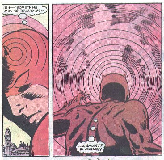 Radar image from Daredevil #221, by Denny O'Neil and David Mazzucchelli