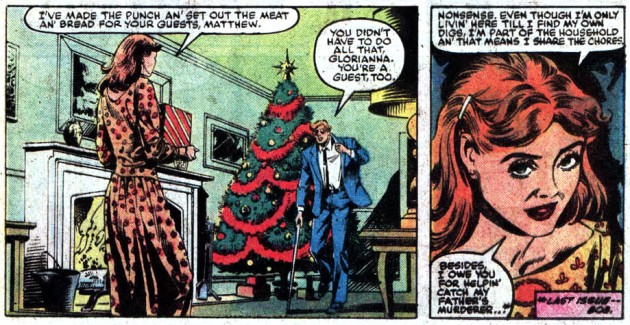 Matt prepares for his Christmas party, Daredevil #206 by Denny O'Neil and David Mazzucchelli