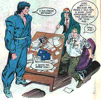 The Beyonder materializes in Foggy's office