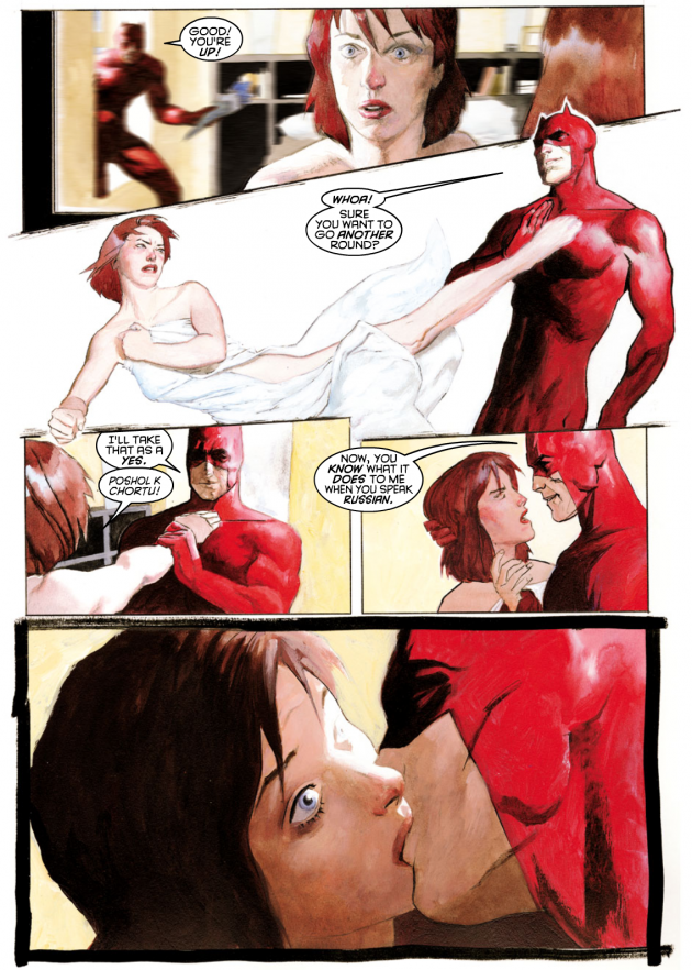 Daredevil attempts to seduce the second Black Widow