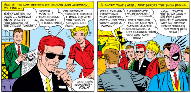Matt decides to join Foggy and Karen at the circus when he hears Spider-Man is appearing
