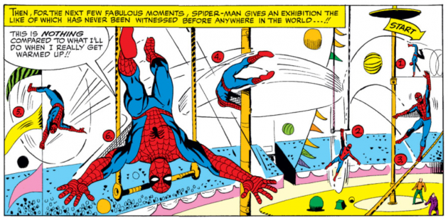 Spider-Man performs at the circus