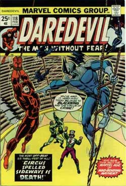 Cover to Daredevil #118, volume 1
