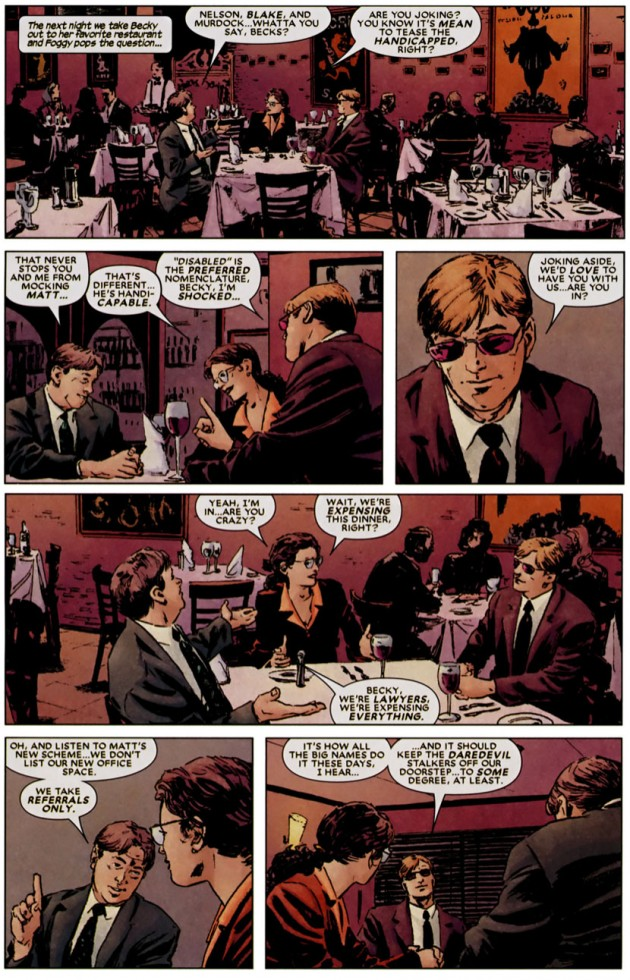 The same page from the printed Daredevil #93