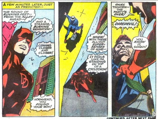 Daredevil compares himself to a Geiger counter, Daredevil #43