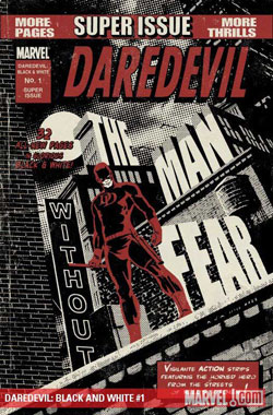 Cover of Daredevil: Black and White #1, by David Aja