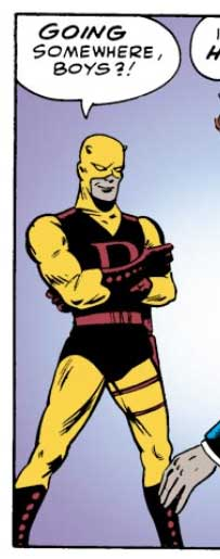Daredevil in his yellow costume, from Daredevil #1