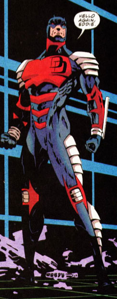 Daredevil in his armored costume, from Daredevil #321