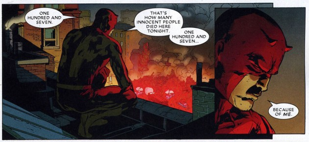 Panel from Dark Reign - The List: Daredevil