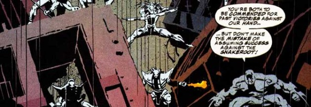 Panel showing an image of the Snakeroot, from Daredevil #325