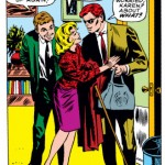 Matt with Foggy and Karen, from Daredevil #25 by Stan Lee and Gene Colan