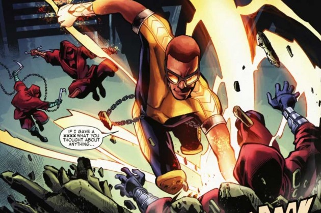 Panel from Shadowland: Power Man #1 by Fred van Lente and Mahmud Asrar