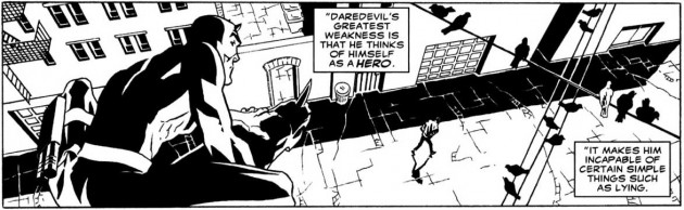 Panel from Secrets and Lies, by Rick Spears and Mick Bertilorenzi