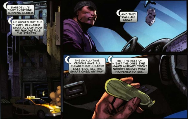Moon Knight makes an appearance in Shadowland #2, by Andy Diggle and Billy Tan