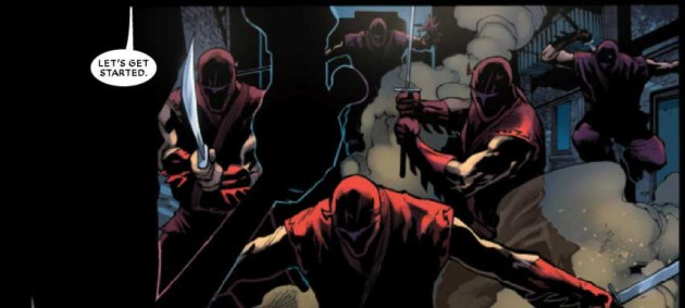 Panel from Shadowland #2, by Andy Diggle and Billy Tan