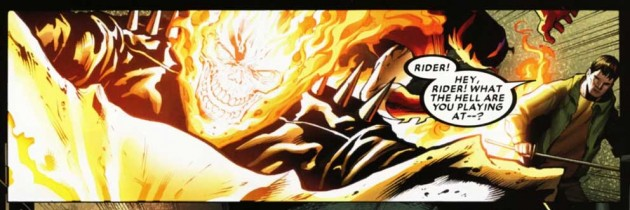 Ghost Rider, panel from Shadowland #3, by Andy Diggle and Billy Tan