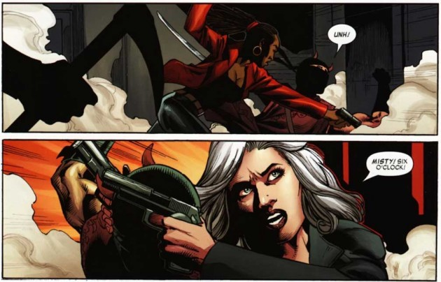 Panels from Shadowland: Blood on the Streets #4