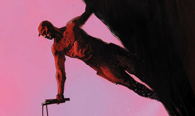 Partial section of the cover to Daredevil: Reborn #3