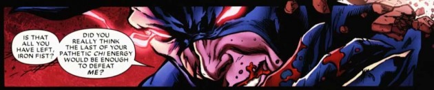 Panel from Shadowland #5, by Andy Diggle and Billy Tan