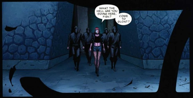 Typhoid Mary greets the Kingpin, from Shadowland #5