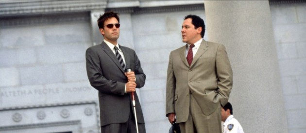 Jon Favreau and Ben Affleck as Foggy and Matt, from the Daredevil movie