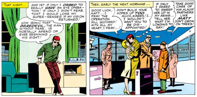 Matt leaving for Lichtenbad, Daredevil #9