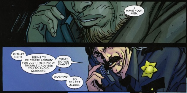 Matt makes a phone call, Daredevil: Reborn #2